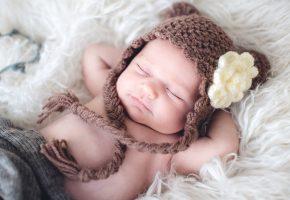ребёнок, лапочка, сон, шапочка, милашка