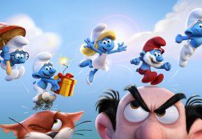 The Smurfs, Смурфики, гномы, веселые, синие