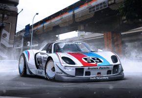 Porsche, 918, Supercar, Порше, суперкар