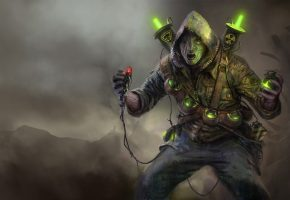 Обои Wasteland 2, монстр, гранаты, взрывчатка, радиация