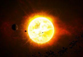 Планеты, звезды, солнце, гигант, астероиды