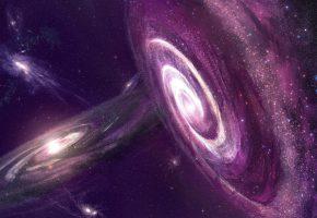 галактики, космос, звезды, планеты, пустота