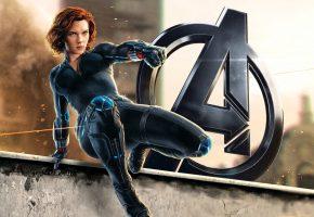 Обои Мстители, Черная Вдова, Black Widow, Avengers, Marvel, Скарлетт Йоханссон, Scarlett Johansson