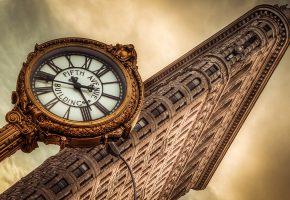 Обои здание, часы, new york, архитектура, Нью-йорк