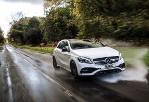 Обои Мерседес, AMG, Mercedes-Benz, A-class, амг, белый, брызги