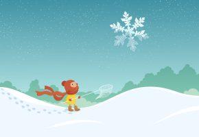 новый год, 2016, рождество, мальчик, сачок, снежинка