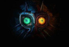 Обои маска, цвет, свет, глаза