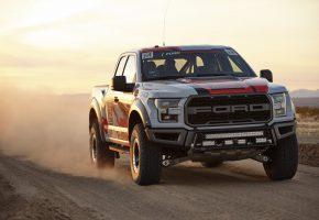 Обои Форд, Ford, внедорожник, джип, дорога, пыль, пустыня