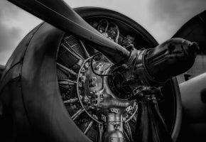 Обои metal, engine, propeller, двигатель, пропеллер, лопасти, металл