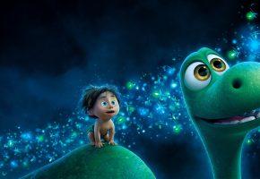 Обои The Good Dinosaur, Хороший динозавр, мультфильм, animated, динозавр, человек