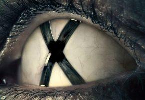 Обои x-files, глаз, trust no one, ресницы