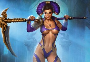 Juggernaut Wars, Gladiator Dominatrix, гладиатор, девушка, фигура, игра