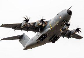 RAF, A400M, Atlas, aircraft, небо, винты, пропеллеры