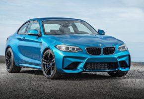 BMW, M2, Coupe, F87, бмв, купе, синяя