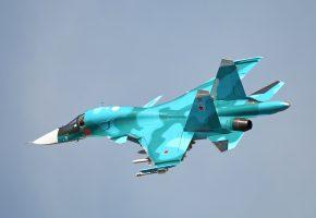 Обои Су-34, истребитель, бомбардировщик, полет