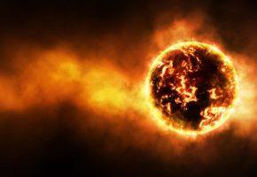 Обои раскаленная планета, температура, излучение, радиация