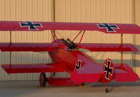 Fokker, DR1, триплан, истребитель, Первой, мировой, войны