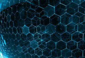 3Д, фэнтези, фон, связи, шестигранник, высокие, технологии