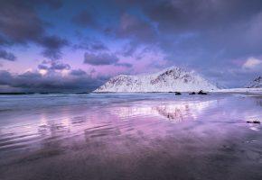Обои Норвегия, небо, горы, пейзаж, облока