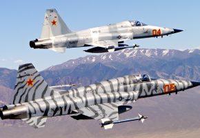 Обои Нортроп, F-5, Тайгер, многоцелевой, истребитель, полет