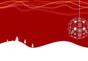 Обои Рождество, Новый Год, шарик, снежинка, открытка, вектор