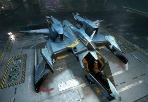 Star Citizen, Mustang, корабль, посадка, станция