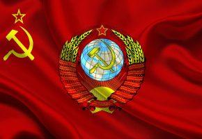 Обои ссср, герб, Флаг, красный, молот, серп, звезда