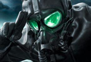 Обои арт, апокалипсис, apocalyptic, комикс, очки, кожаная, куртка, противогаз, пилот