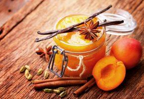 Peaches, Powidl, Cinnamon, персики, варенье, джем