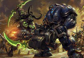 Варкрафт, illidan stormrage, wow, illidan, Морпех, StarCraft, битва