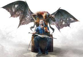 Обои The Witcher 3: Wild Hunt - Blood and Wine, Ведьмак 3: Дикая Охота - Кровь и Вино, Монстр, Оружие