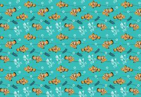 Обои рыбки, водоросли, узор, фон, текстуры