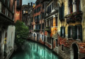 Обои Italy, Italia, Venezia, Venice, street, canal, Италия, Венеция, улица, здания, дома, канал