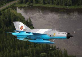 Обои МиГ-21, многоцелевой, истребитель, полет