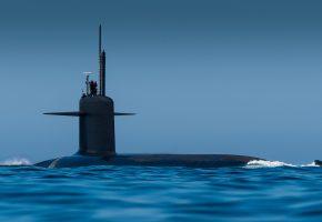 море, подводная лодка, люди, армия