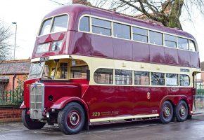 автобус, двухэтажный, ретро, классика