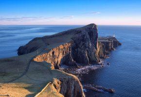 Обои Маяк, остров, Скай, Шотландия, океан, скала