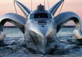 hightech, yacht, stealth, яхта, скорость