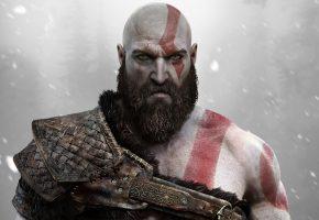 Обои God of War, игра, воин, борода