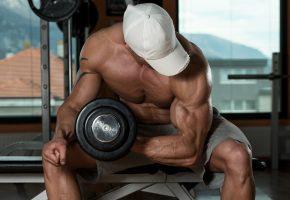 bodybuilder, muscle, мышцы, тренировка, мужчина, гантеля