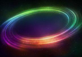 Обои abstraction, абстракция, цвета, линии, кольцо, звезды