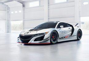 NSX, GT3, хонда, суперкар, Honda, Acura, акура