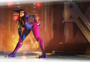 костюм, ноги, повязка, девушка, art, Street Fighter, juri, одноглазая