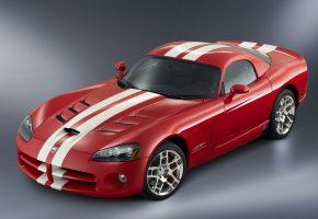 Dodge, Viper, SRT 10, авто, красный, Додж