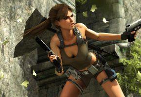Eidos Interactive, lara croft, underworld, tomb raider, Том Райдер, пистолет, оружие
