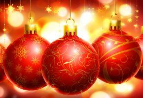 Рождестко, праздник, шарики, макро, шары, новый год