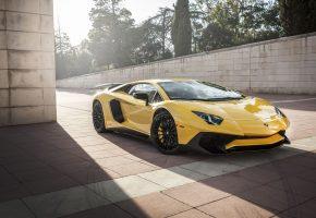 Lamborghini, Ламборгини, суперкар, авто, желтый