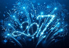 new year, blue, 2017, happy, Новый Год, фейерверк