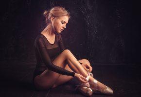 девушка, модель, шатенка, балерина