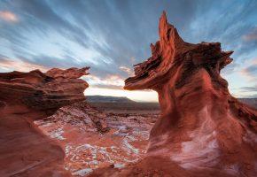 скалы, небо, каньон, камни